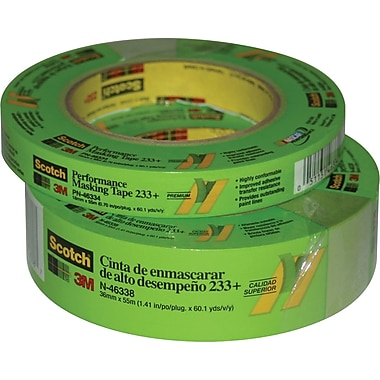 3M™ Scotch® 1 1/2in. x 60 yds. Masking Tape 233+, Green, 8 Rolls