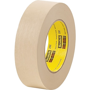 3M™ Scotch® 1 1/2in. x 60 yds. x 6.3 mil Masking Tape 232, Tan, 12/Case