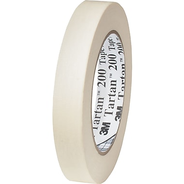 3M™ 1 1/2in. x 60 yds. x 4.4 mil Masking Tape 200, Tan, 12/Case