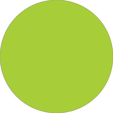 Tape Logic™ 1/2in. Circle Inventory Label, Fluorescent Green, 500/Roll