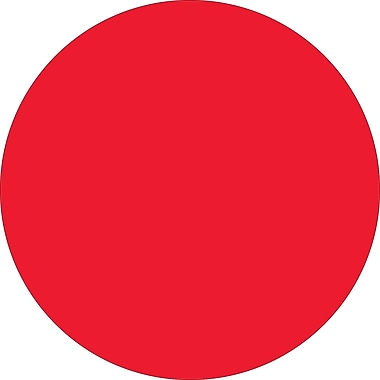 Tape Logic™ 1 1/2in. Circle Inventory Label, Fluorescent Red, 500/Roll