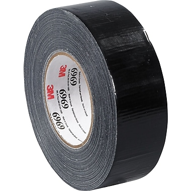 3M™ 2in. x 60 yds. Vinyl Duct Tape 6969, Black, 3/Pack