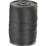 BOX 320 lbs. Solid Braided Nylon Rope, Black, 500'