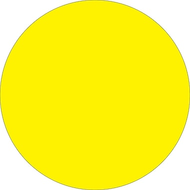 Tape Logic™ 4in. Circle Inventory Label, Fluorescent Yellow, 500/Roll