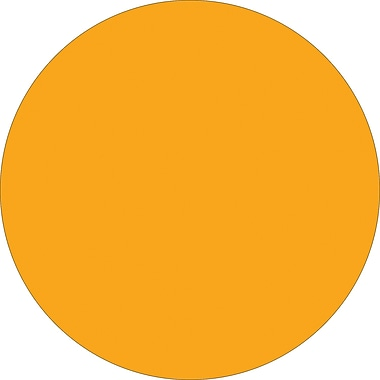 Tape Logic™ 4in. Circle Inventory Label, Fluorescent Orange, 500/Roll