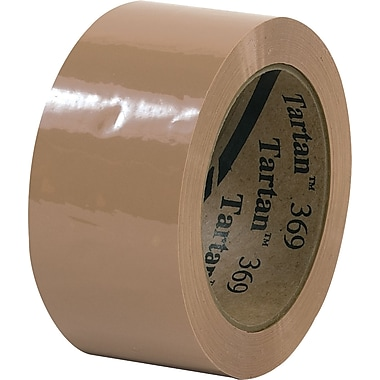 3M™ 2in. x 55 yds. Tan Carton Sealing Tape 369, 36/Case
