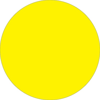 Tape Logic™ 2in. Circle Inventory Label, Fluorescent Yellow, 500/Roll