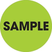 "Tape Logic™ 2"" Circle ""Sample"" Label, Fluorescent Green, 500/Roll"