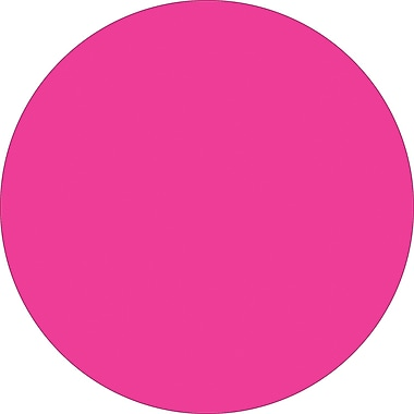 Tape Logic™ 1/2in. Circle Inventory Label, Fluorescent Pink, 500/Roll