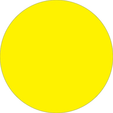 Tape Logic™ 1in. Circle Inventory Label, Fluorescent Yellow, 500/Roll