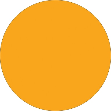 Tape Logic™ 1in. Circle Inventory Label, Fluorescent Orange, 500/Roll