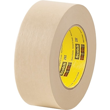 3M™ Scotch® 1/4in. x 60 yds. x 6.3 mil Masking Tape 232, Tan, 12 Rolls