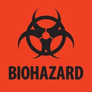 "Tape Logic™ Biohazard Regulated Label, 4"" x 4"""