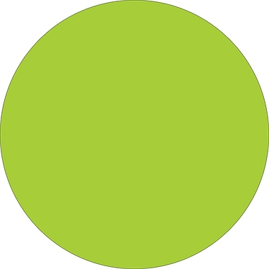 Tape Logic™ 3in. Circle Inventory Label, Fluorescent Green, 500/Roll