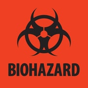 Tape Logic™ Biohazard Regulated Label, 2 x 2