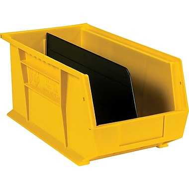 BOX Black Stack and Hang Bin Divider, 13 15/16in. x 4 3/4in.