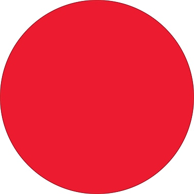 Tape Logic™ 1/2in. Circle Inventory Label, Fluorescent Red, 500/Roll