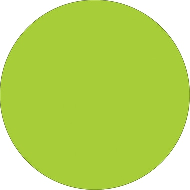 Tape Logic™ 1in. Circle Inventory Label, Fluorescent Green, 500/Roll