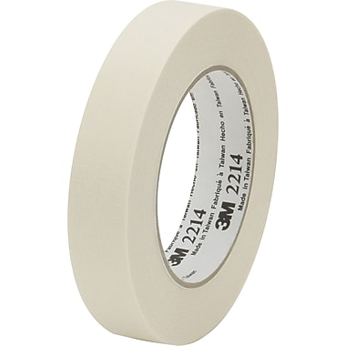 3M™ 2in. x 60 yds. x 5.2 mil Masking Tape 2214, Tan, 12 Rolls