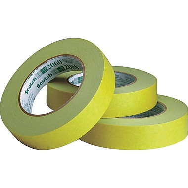 3M™ 1in. x 60 yds. Masking Tape 2060, Green, 12/Case