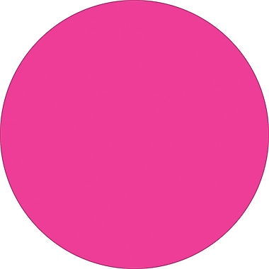 Tape Logic™ 2in. Circle Inventory Label, Fluorescent Pink, 500/Roll