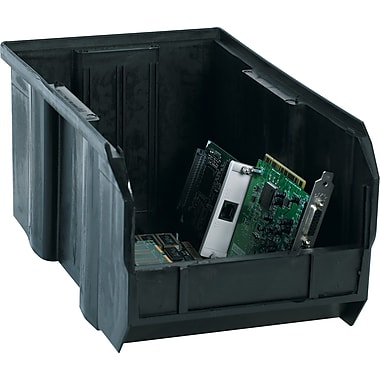 BOX 14 3/4in. x 8 1/4in. x 7in. Conductive Bin, Black