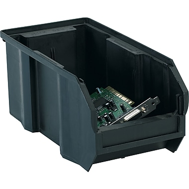 BOX 10 7/8in. x 5 1/2in. x 5in. Conductive Bin, Black