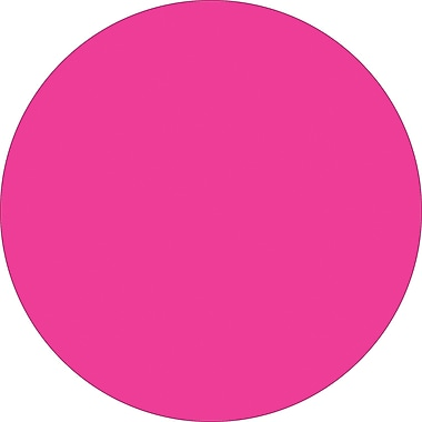 Tape Logic™ 1in. Circle Inventory Label, Fluorescent Pink, 500/Roll