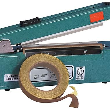 BOX 3/4'' x 36 yds. x 3 mil PTFE Glass Cloth Tape, 1/Pack