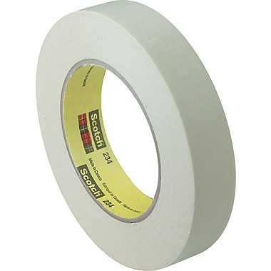 3M™ Scotch® 1in. x 60 yds. x 6 mil Masking Tape 234, Tan, 12 Rolls