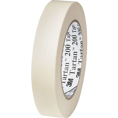 3M™ 1in. x 60 yds. x 4.4 mil Masking Tape 200, Tan, 12 Rolls