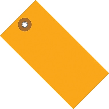 Tyvek® 4 3/4in. x 2 3/8in. Shipping Tag, Orange, 100/Case