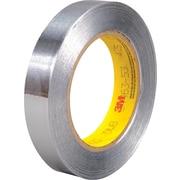 """3M™ 425 Aluminum Foil Tape, 3/4"""" x 60 yds., Silver, 48/Case"""