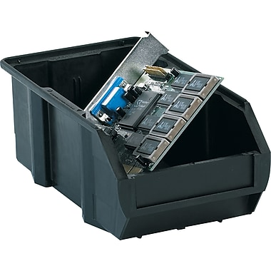 BOX 7 3/8in. x 4 1/8in. x 3in. Conductive Bin, Black