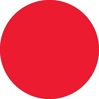 Tape Logic™ 2in. Circle Inventory Label, Fluorescent Red, 500/Roll