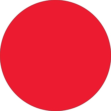 Tape Logic™ 1in. Circle Inventory Label, Fluorescent Red, 500/Roll