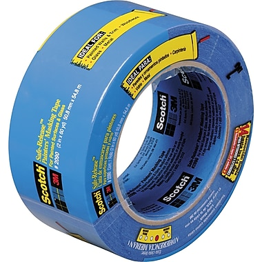 3M™ ScotchBlue™ 3in. 60 yds. Masking Tape 2090, 12 Rolls