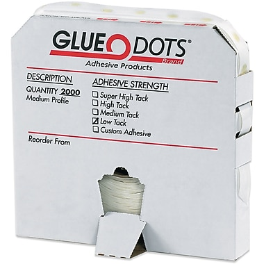 Glue Dots® 1/4in. Low Tack Glue Dots, Medium Profile