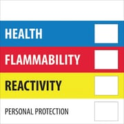 "Tape Logic™ Health Flammability Reactivity Regulated Label, 2"" x 2"""