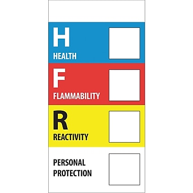 Tape Logic™ Health Flammability Reactivity Regulated Label, 1