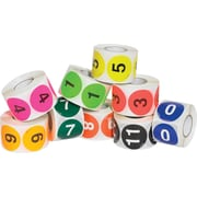 """Tape Logic™ 2"""" Circle Easy Order Packs Numbers (1-10) Pre Printed Inventory Label, 500/Roll"""