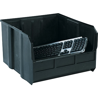 BOX 18in. x 16 1/2in. x 11in. Conductive Bin, Black