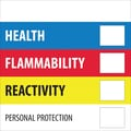 Tape Logic™ Health Flammability Reactivity Regulated Label, 4in.x 4in.