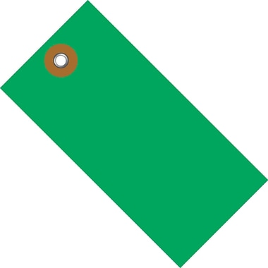 Tyvek® 3 1/4in. x 1 5/8in. Shipping Tag, Green, 100/Case