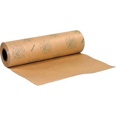 BOX 35 lbs. VCI Anti Rust Industrial Paper Waxed Roll, 36in. x 200 yds., 1 Roll