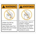 Tape Logic™ Warning/Advertencia Regulated Label, 5in. x 6in.