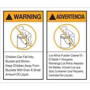 Tape Logic™ Warning/Advertencia Regulated Label, 5 x 6