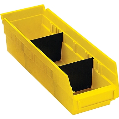 BOX Black Plastic Shelf Bin Divider, 9 7/8