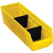 BOX Black Plastic Shelf Bin Divider, 9 7/8 x 3