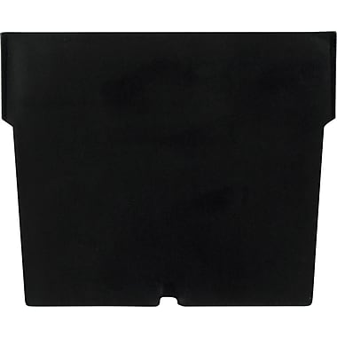 BOX Black Plastic Shelf Bin Divider, 5 1/4in. x 3in.